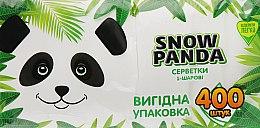 Духи, Парфюмерия, косметика Салфетки бумажные, белые, 400шт - Снежная панда