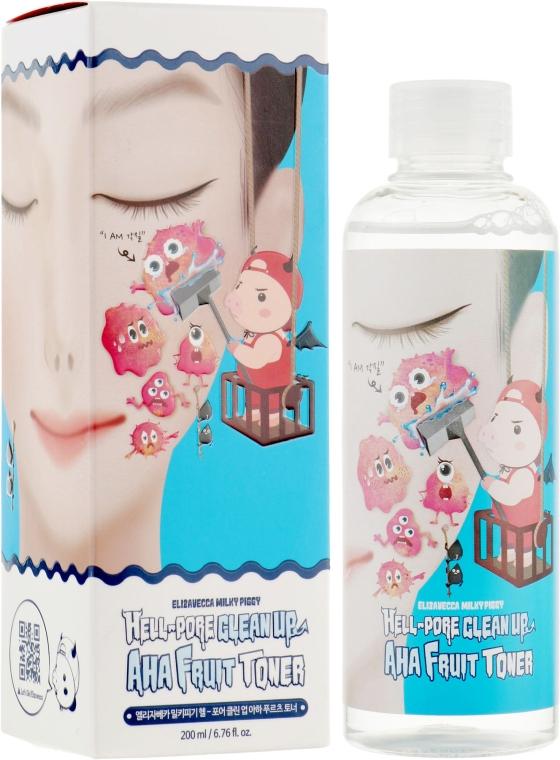 Пилинг-тонер с фруктовыми кислотами - Elizavecca Face Care Hell-Pore Clean Up Aha Fruit Toner
