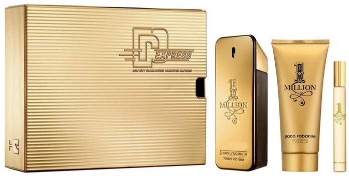 Paco Rabanne 1 Million - Набор (edt/50ml + sh/gel/100ml+edt/10ml)