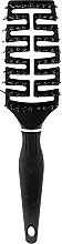 Духи, Парфюмерия, косметика Продувная расческа антистатик с защитой, 8 рядов комбинированной щетины - Vero Professional