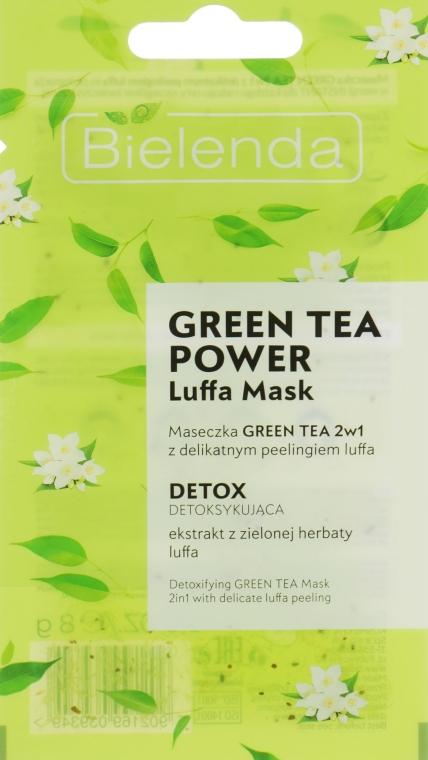 Маска для лица - Bielenda Green Tea Power Luffa Mask 2in1