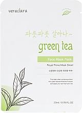 Духи, Парфюмерия, косметика Тканевая маска для лица с экстрактом зеленого чая - Veraclara Green Tea Face Mask