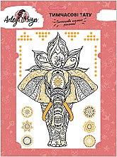 """Духи, Парфюмерия, косметика Флеш-тату """"Слон и мандала"""", 145х205 мм - Arley Sign"""