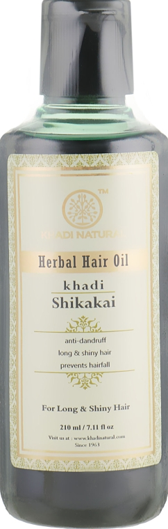 "Натуральное масло для волос ""Шикакай"" - Khadi Natural Ayurvedic Shikakai Hair Oil"