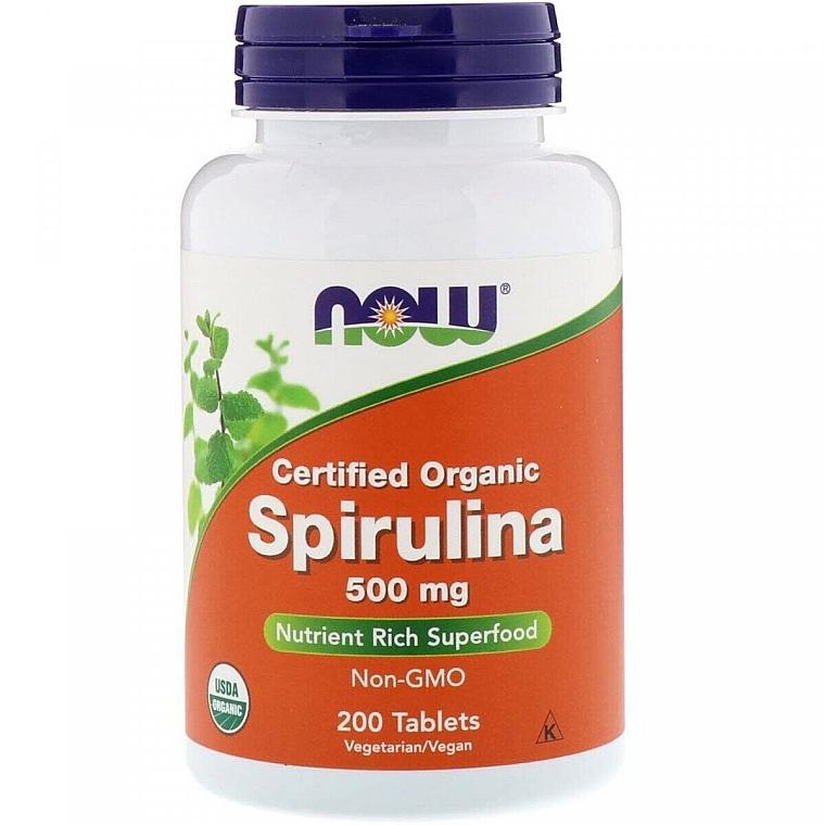 "Природная добавка ""Спирулина"" 500 мг - Now Foods Certified Organic Spirulina Tablets"