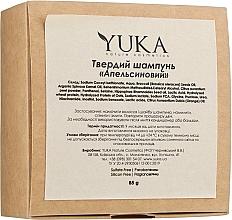 """Парфумерія, косметика Твердий шампунь для волосся """"Апельсиновий"""" - Yuka"""