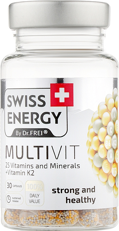 """Витамины в капсулах """"25 Витаминов и минералов"""" - Swiss Energy Multivit"""
