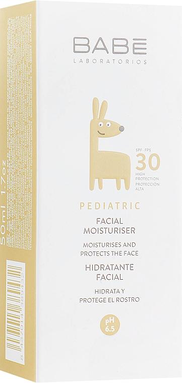 Детский увлажняющий крем для лица с SPF 30 - Babe Laboratorios Facial Moisturizer SPF 30