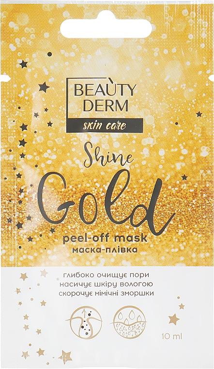 Маска-пленка для лица - Beauty Derm Skin Care Shine Golden Peel-off Mask
