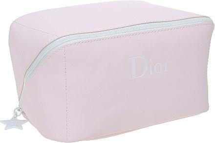 Косметичка, розовая с белой надписью - Christian Dior