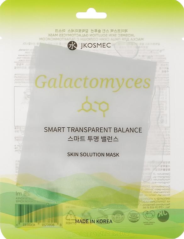 Маска для лица с галактомисисом - Jkosmec Skin Solution Galactomyces Mask