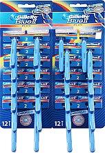Духи, Парфюмерия, косметика Набор одноразовых станков для бритья, 24шт - Gillette Blue II Plus