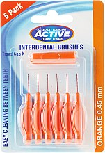 Межзубные щетки, 0,45мм, оранжевые - Beauty Formulas Active Oral Care Interdental Brushes — фото N1