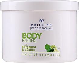 "Духи, Парфюмерия, косметика Пилинг для тела ""Бергамот-Ваниль"" - Hristina Professional 100% Natural Bergamot&Vanilla Body Peeling"
