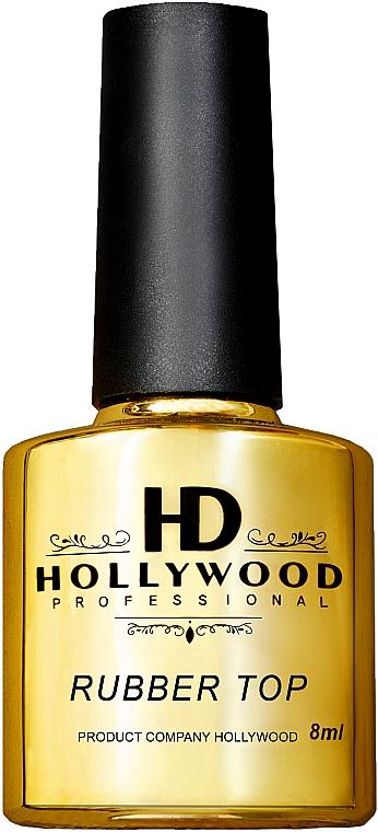 Топ для гель-лака, каучуковый - HD Hollywood Rubber Top