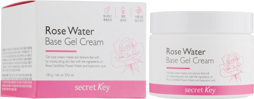 Гель-крем на основе розовой воды - Secret Key Rose Water Base Gel Cream