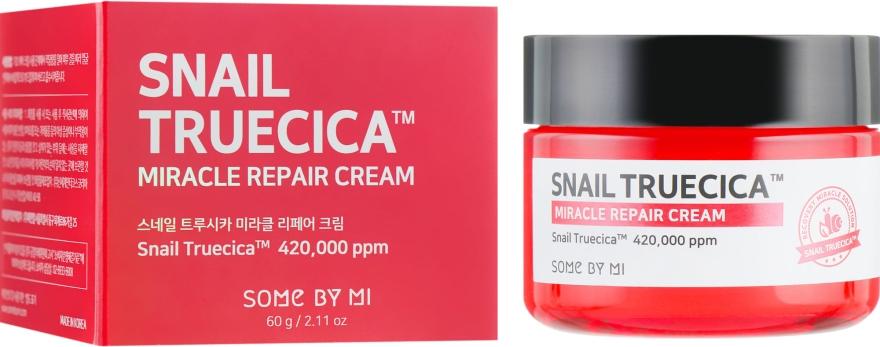 Восстанавливающий крем с муцином улитки и керамидами - Some By Mi Snail Truecica Miracle Repair Cream