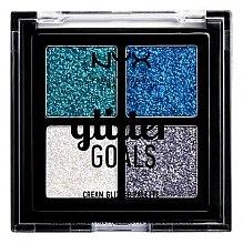 Духи, Парфюмерия, косметика Палетка кремовых глиттеров - NYX Professional Makeup Glitter Goals Cream Quad Palette