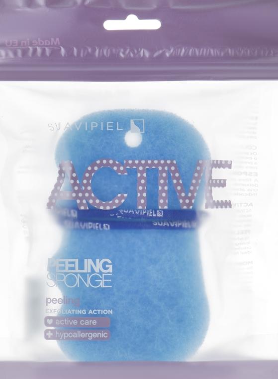 Мочалка-пилинг, голубая - Suavipiel Active Esponja Peeling