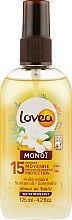 Духи, Парфюмерия, косметика Сухое масло с ароматом монои для загара - Lovea Monoi Suntan Oil SPF15