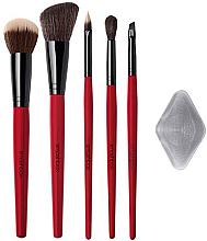 Духи, Парфюмерия, косметика Набор кистей для макияжа с гелевым апликатором - Smashbox Starter Brush Set (brush/5pcs + the photo filter/1pcs)