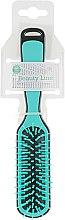 Духи, Парфюмерия, косметика Прямоугольная расческа для укладки, бирюзово-черная - Beauty Line