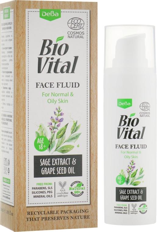 Флюид для лица - DeBa Bio Vital Fluid for Normal & Oily Skin