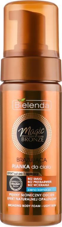 Бронзирующая пенка для тела, светлый оттенок кожи - Bielenda Magic Bronze