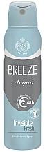 Духи, Парфюмерия, косметика Дезодорант-спрей - Breeze Acqua Invisible Fresh Deodorante Spray 48H