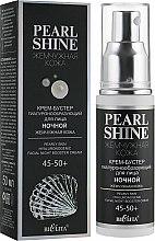 Духи, Парфюмерия, косметика Крем-бустер гиалуронообразующий для лица ночной «Жемчужная кожа» 45-50+ - Bielita Pearl Shine