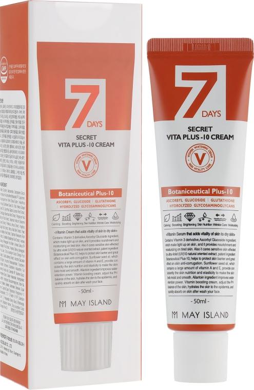 Витаминизированный крем для осветления и выравнивания тона кожи - May Island 7 Days Secret Vita Plus-10 Cream