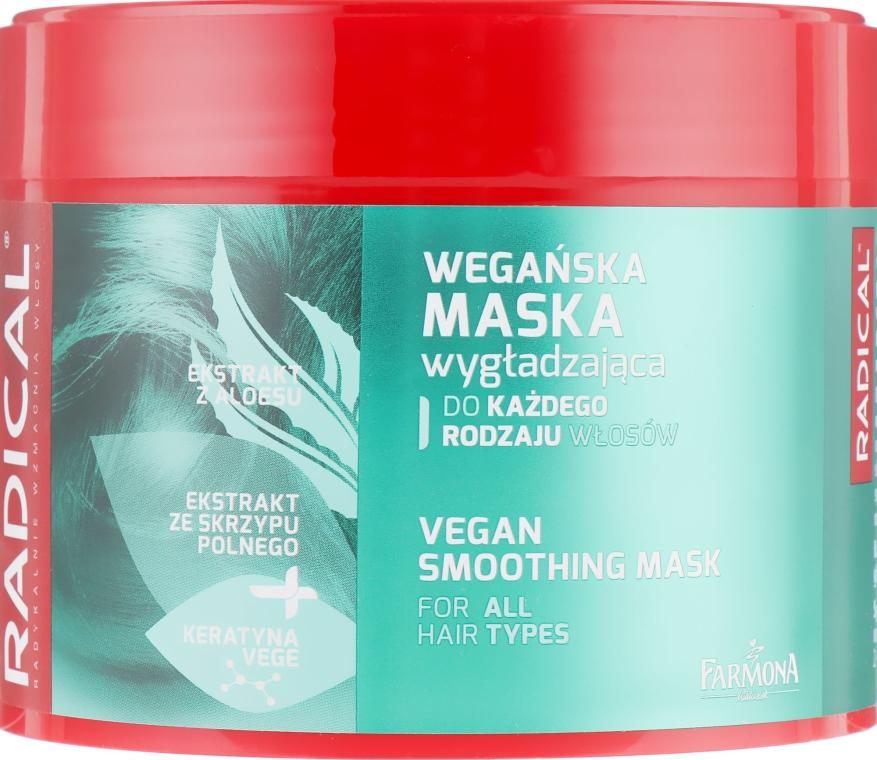 Разглаживающая маска для волос с глянцевым эффектом - Farmona Radical Vegan Smoothing Hair Mask