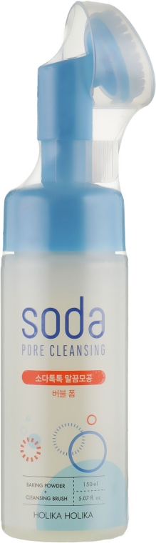 Пенка от черных точек с содой и силиконовой щеточкой - Holika Holika Soda Tok Tok Clean Pore Bubble Foam