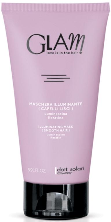 Разглаживающая маска для волос с эффектом сияния - Dott. Solari Glam Illuminating Mask Smooth Hair