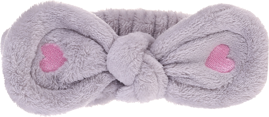 Косметическая повязка для волос, серая - Lash Brow Cosmetic SPA Band