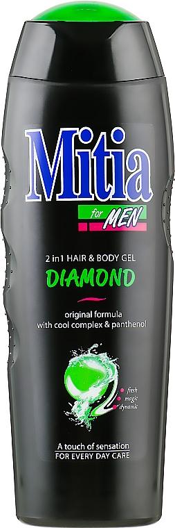 Мужской шампунь-гель для душа 2 в 1 - Mitia Diamond Hair and Body Gel