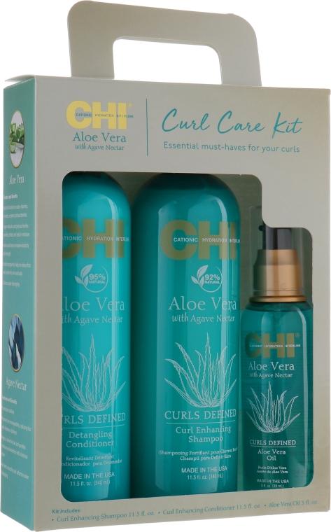 Набор - CHI Aloe Vera Oil (shampoo/340ml + cond/340ml + oil/89ml)