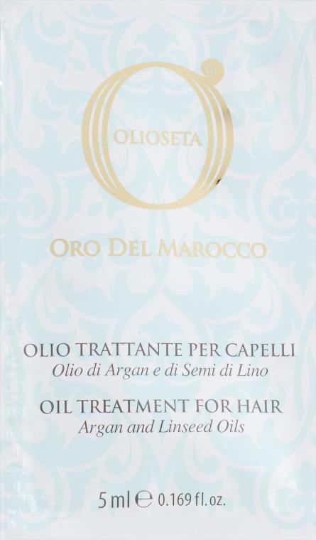 "Масло ""Блонд Уход"" с маслом арганы и маслом семян льна - Barex Italiana Olioseta il Treatment Blonde-Fine Hair (пробник)"