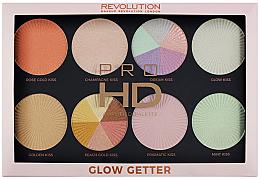 Духи, Парфюмерия, косметика Палетка хайлатеров - Makeup Revolution Pro HD Palette Glow Getter
