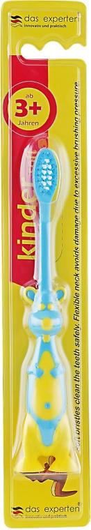 Детская зубная щетка с мягкой щетиной, желто-синяя - Das Experten
