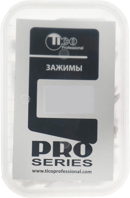 Двойной зажим для волос, 45мм, белый - Tico Professional
