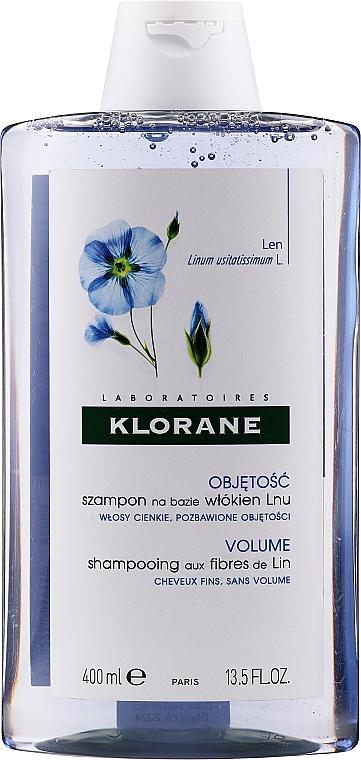 Шампунь с экстрактом льняного волокна для придания объема тонким волосам - Klorane Shampoo With Flax Fiber