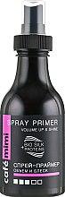 "Духи, Парфюмерия, косметика Спрей-праймер ""Объем и блеск"" - Cafe Mimi Spray Primer Volume Up & Shine"