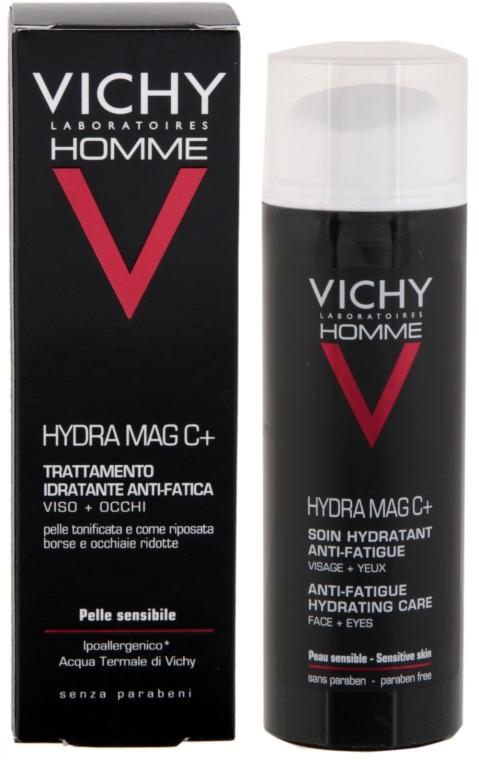 Увлажняющий крем для лица и век - Vichy Homme Hydra Mag C+ Anti-Fatigue Hydrating Care