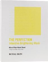 Духи, Парфюмерия, косметика Интенсивно-выравнивающая тон маска из микрофибры - Royal Skin The Perfection Intensive Brightening Mask