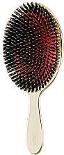 Духи, Парфюмерия, косметика Расческа для волос с натуральной щетиной большая, 23M, золотая - Janeke Gold Hairbrush