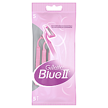 Парфумерія, косметика Набір одноразових станків для гоління, 5шт - Gillette for Women Blue II