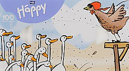 """Духи, Парфюмерия, косметика Платочки бумажные универсальные двухслойные """"Гуси"""" - Bella Baby Happy"""