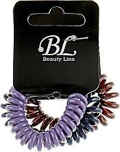 Духи, Парфюмерия, косметика Набор резинок для волос, 405004, темно-синяя+коричневая+фиолетовая - Beauty Line
