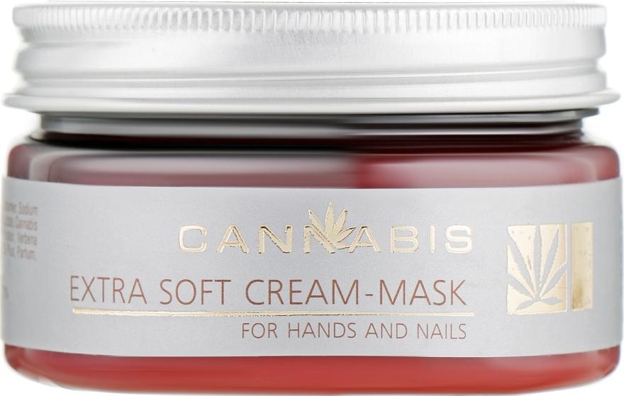 Крем-маска восстанавливающая для кожи рук и ногтей - Cannabis Extra Soft Cream-Maskfor Hands And Nails